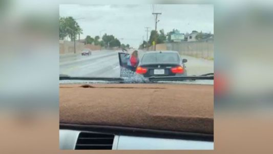 'Pull over NOW': Mom filmed whipping teen son with belt after he took her new BMW