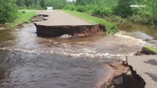 Video shows washed-out road in Bayfield County