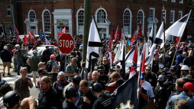 NHL team considers legal action over use of team logo at white supremacists rally