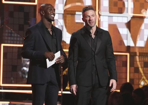 Week after Super Bowl, Devin McCourty, Julian Edelman present Grammy award