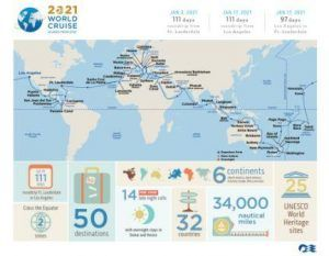 Princess Cruises' 2021 World Cruise becomes fastest selling world cruise in its history