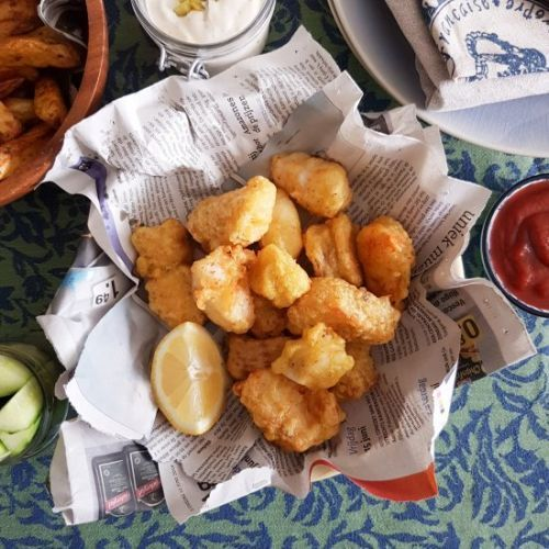 Beer battered Cod Lemon Remoulade
