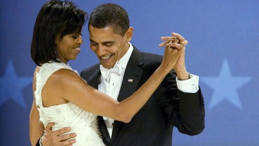 Obamas trade tender Valentine's Day tweets, Trumps share silence