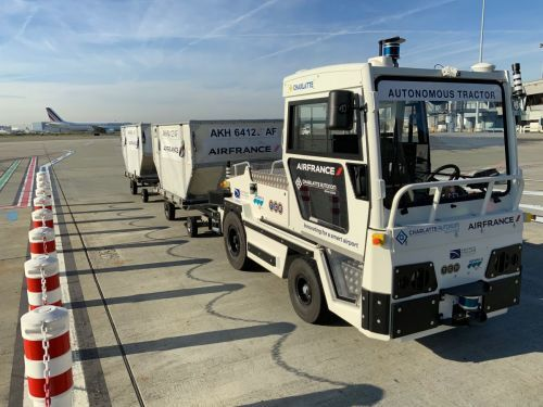 A World First - An Autonomous Baggage Tractor Tested in Real Conditions