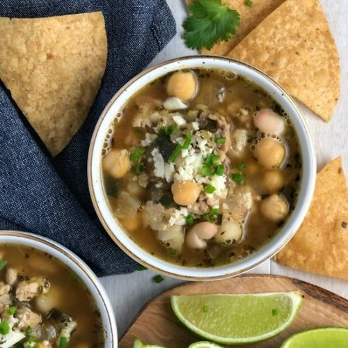 White Bean & Hominy Chicken Chili