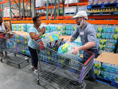 'I've never seen anything like this': As Hurricane Dorian approaches Florida, residents empty store shelves and make other preparations