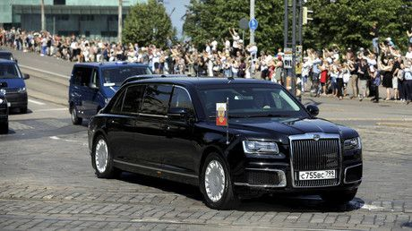 Putin's new Aurus limo makes foreign debut in Finland