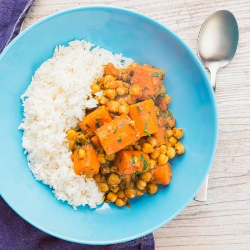 Carrot and Chickpea Curry