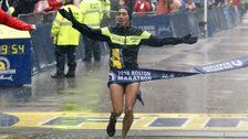 Desiree Linden Becomes First American Woman To Win Boston Marathon In 33 Years