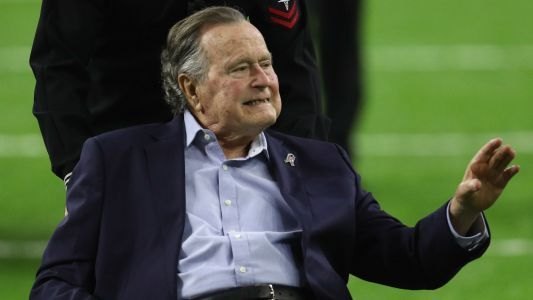 George H.W. Bush 'focused on Rockets' from hospital bed
