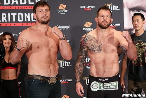 Bellator 207 ceremonial weigh-ins video, photos: Friends become foes