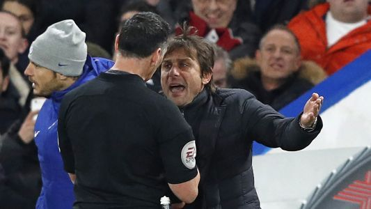 Chelsea boss Conte fined £8,000 for Swansea dismissal