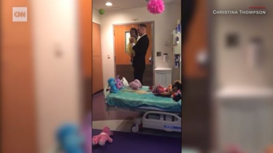 Daddy-daughter dance in hospital goes viral