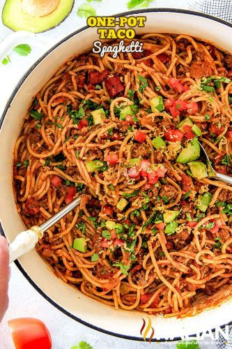 One-Pot Taco Spaghetti