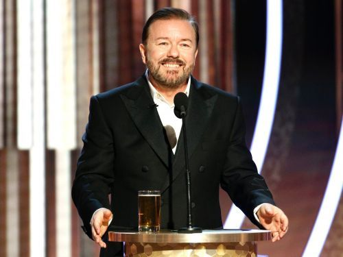 Tom Hanks couldn't handle Ricky Gervais' opening Golden Globes monologue, and his face really says it all