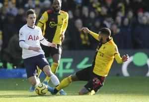 Spurs' winless run continues in draw at on-form Watford
