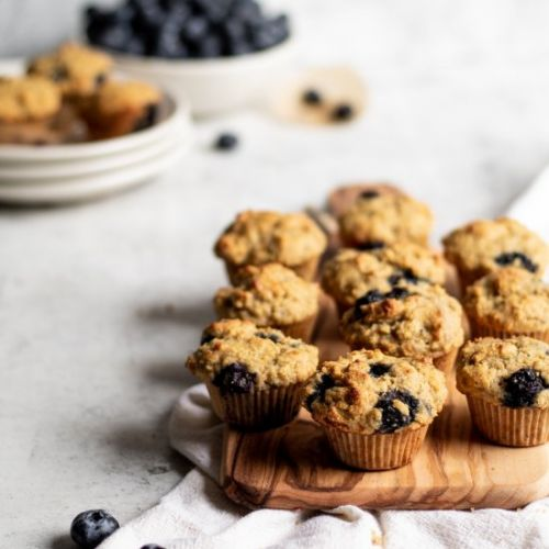 Blueberry Cornmeal Mini Muffins