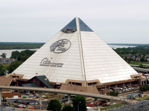 One of the largest pyramids in the world is a Bass Pro Shops megastore with rumored ties to mythical curses