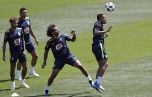 Brazil right at home at World Cup base in sunny Sochi