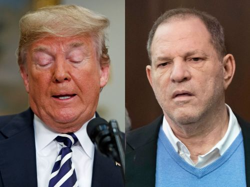 Donald Trump says he's 'not familiar' with accusations against alleged sexual predator Harvey Weinstein