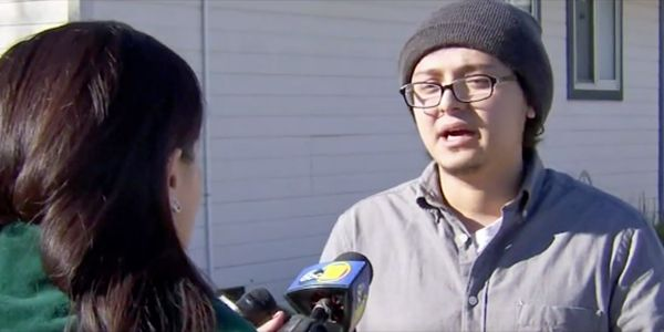 A newspaper carrier found a newborn baby with its umbilical cord still attached on a frigid road in California