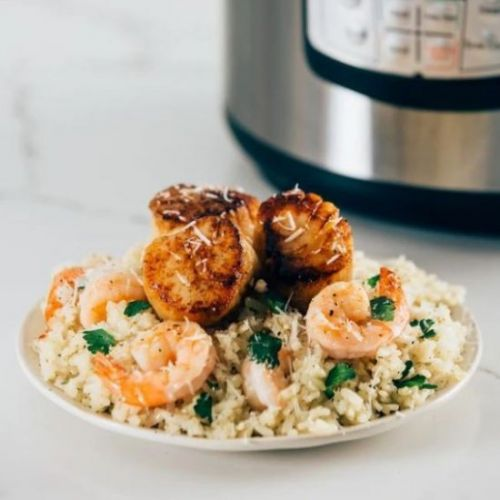 Instant Pot Seafood Risotto