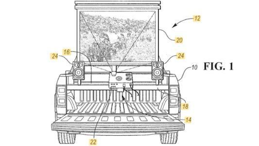 Ford Patents a Way to Turn Your Pickup Truck Into a Movie Theater