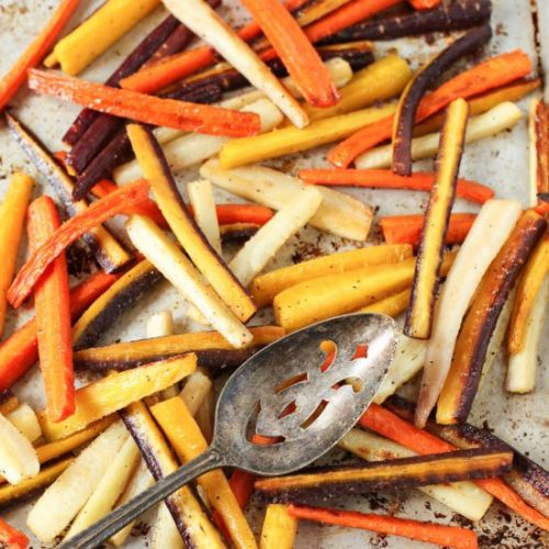 Garlic Roasted Rainbow Carrots