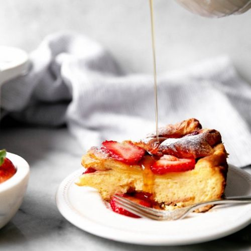 Baked French Toast with Lemon