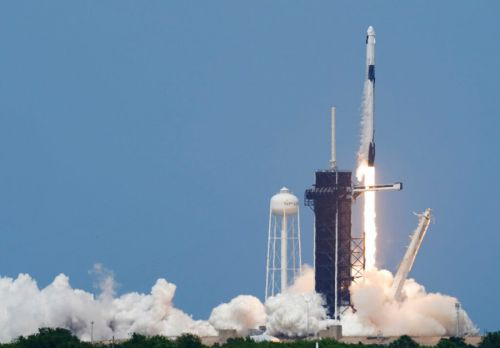 Photo Gallery: SpaceX rocket blasts off in historic flight to International Space Station
