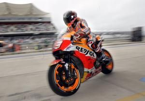 Marquez penalty puts Vinales on pole in Texas