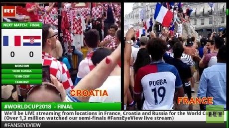 WORLD CUP FINAL 2018 FansEyeView France Croatia