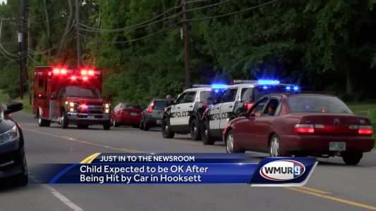 Child struck by car in Hooksett Sunday night