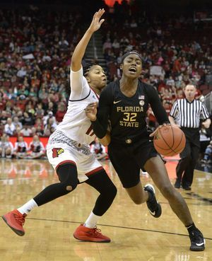 No. 12 Florida State women beat No. 2 Louisville 50-49