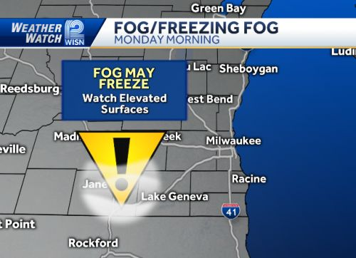 VIDEOCAST: Cold with fog Monday