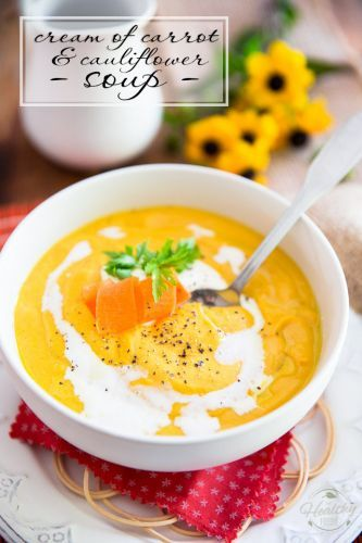 Cream of Carrot and Cauliflower Soup