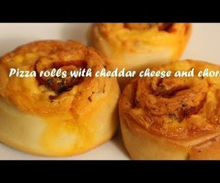 Pizza Rolls With Cheddar Cheese and Chorizo Recipe