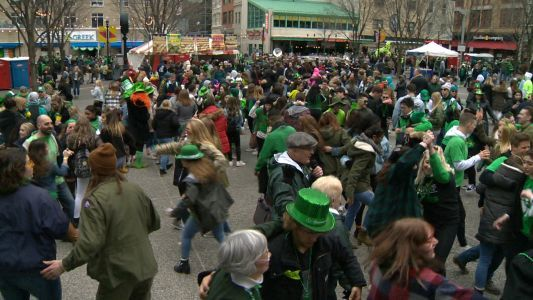 St. Patrick's Day celebration, basketball draw crowds to downtown