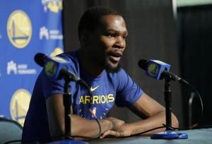 Kevin Durant feels the love in NBA's return to Seattle