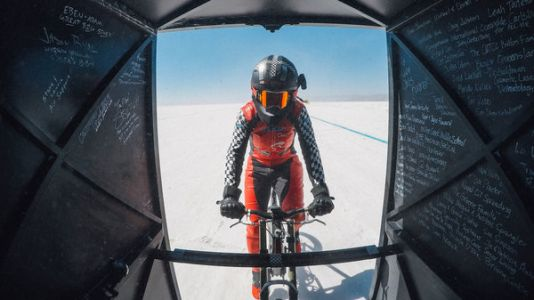 Woman Rides Bicycle To 183.9 MPH - A New World Record