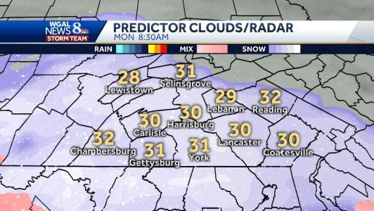 Snow may slow the Monday morning commute