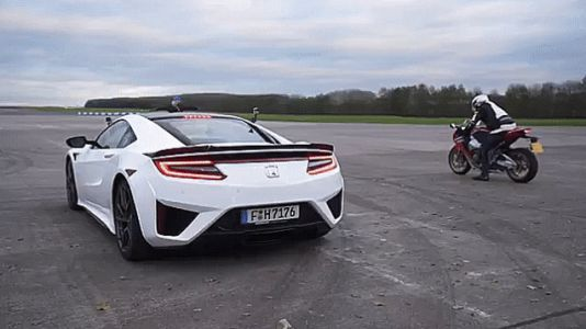 Fireblade vs. NSX Drag Race Results Might Surprise You