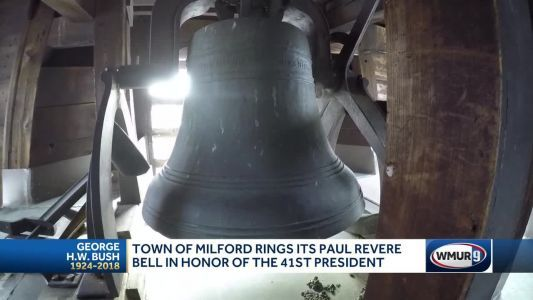 New Hampshire town rings bell cast by Paul Revere in honor of George H.W. Bush
