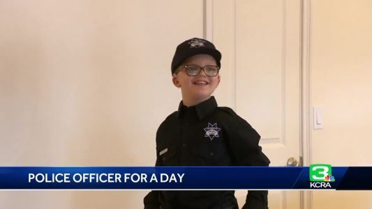 11-year-old becomes Sacramento officer for a day