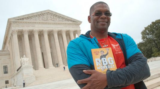 Ginsburg's Trainer Honors Late Justice With Push Ups At Capitol Hill Memorial