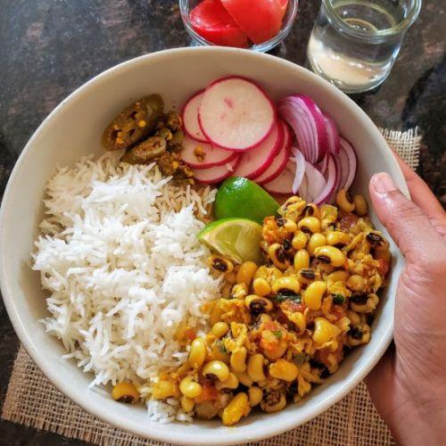 Black Eyed Peas and Coconut Curry