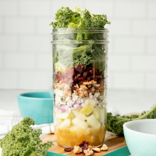 Apple Walnut Salad in a Jar