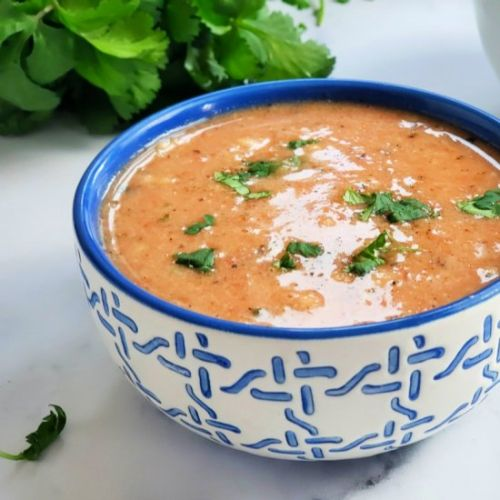 Creamy Tomato Cauliflower Soup