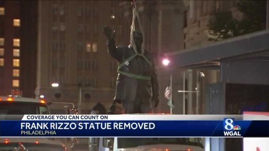 Statue of controversial former Philadelphia Mayor Rizzo removed
