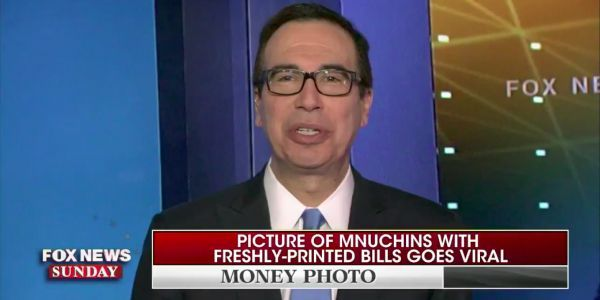 Mnuchin says he should take it 'as a compliment' that people compared him to a James Bond villain after the money photos went viral